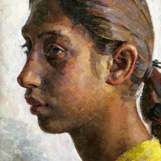 Encarna Moreno Castro, vendedora ambulante de cacharros de cobre, 35x26cm