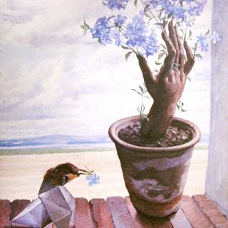 La mano florecida, 65x54cm