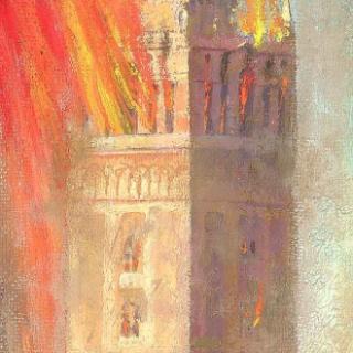 La Giralda en llamas, 54x15cm
