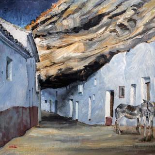 Cuevas de la sombra Setenil de las bodegas, .Cádiz. 54x65cm