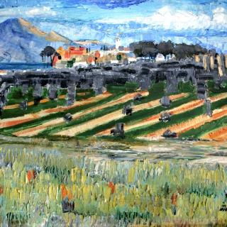 Pueblo de Laachar, Granada. 54x65-cm