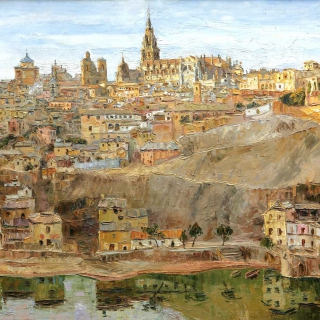 AMALIO-Toledo-Oleo-sobre-tablex-100-x-75-cm-1